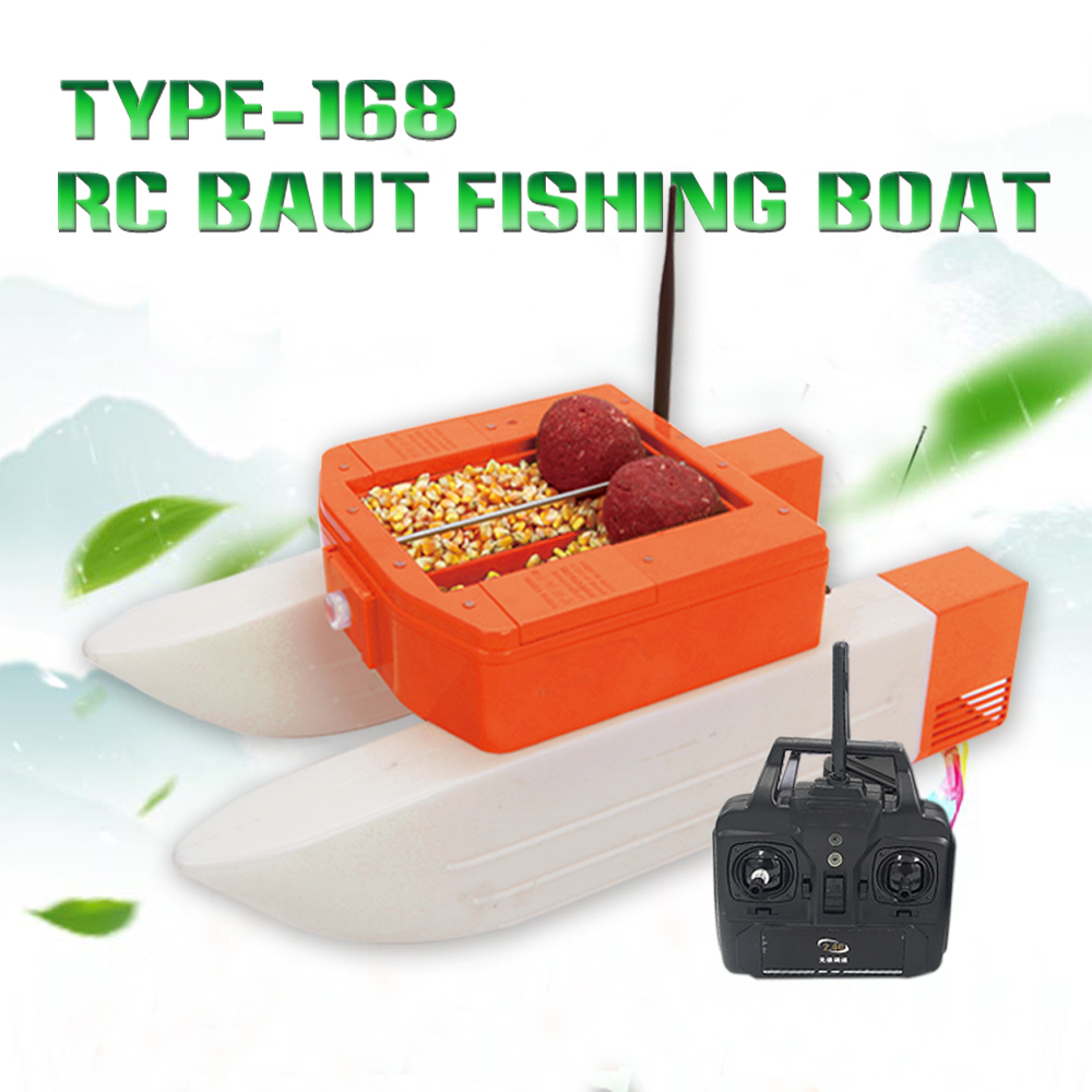 PDDHKK T168 RC Bait FIshing <font><b>Boat</b></font> 500m Remote Control Fish Finder <font><b>Model</b></font> Ship 3kg warehouse Load Double <font><b>Hull</b></font> 400m Visual Distance image