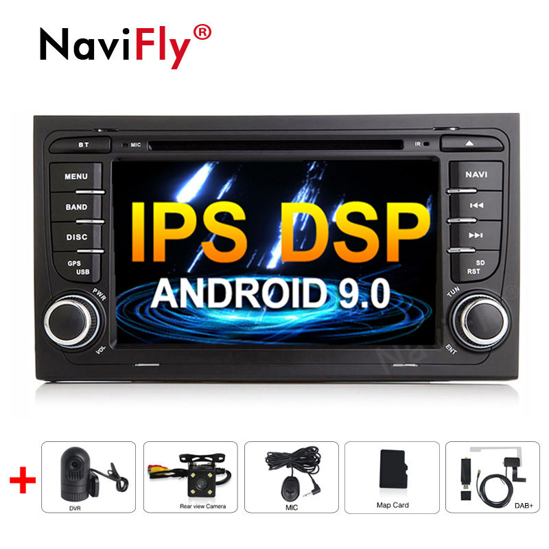 New! Android 9.0 IPS DSP Car dvd radio audio Multimedia Player For Audi A4 B6 B7 S4 B7 B6 RS4 B7 SEAT Exeo GPS Navigation RDS A4