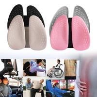 Double Back Waist Lumbar Support Pillow Pad Lumbar Hollow Car Auto Chair Seat Back Cushion Home Office