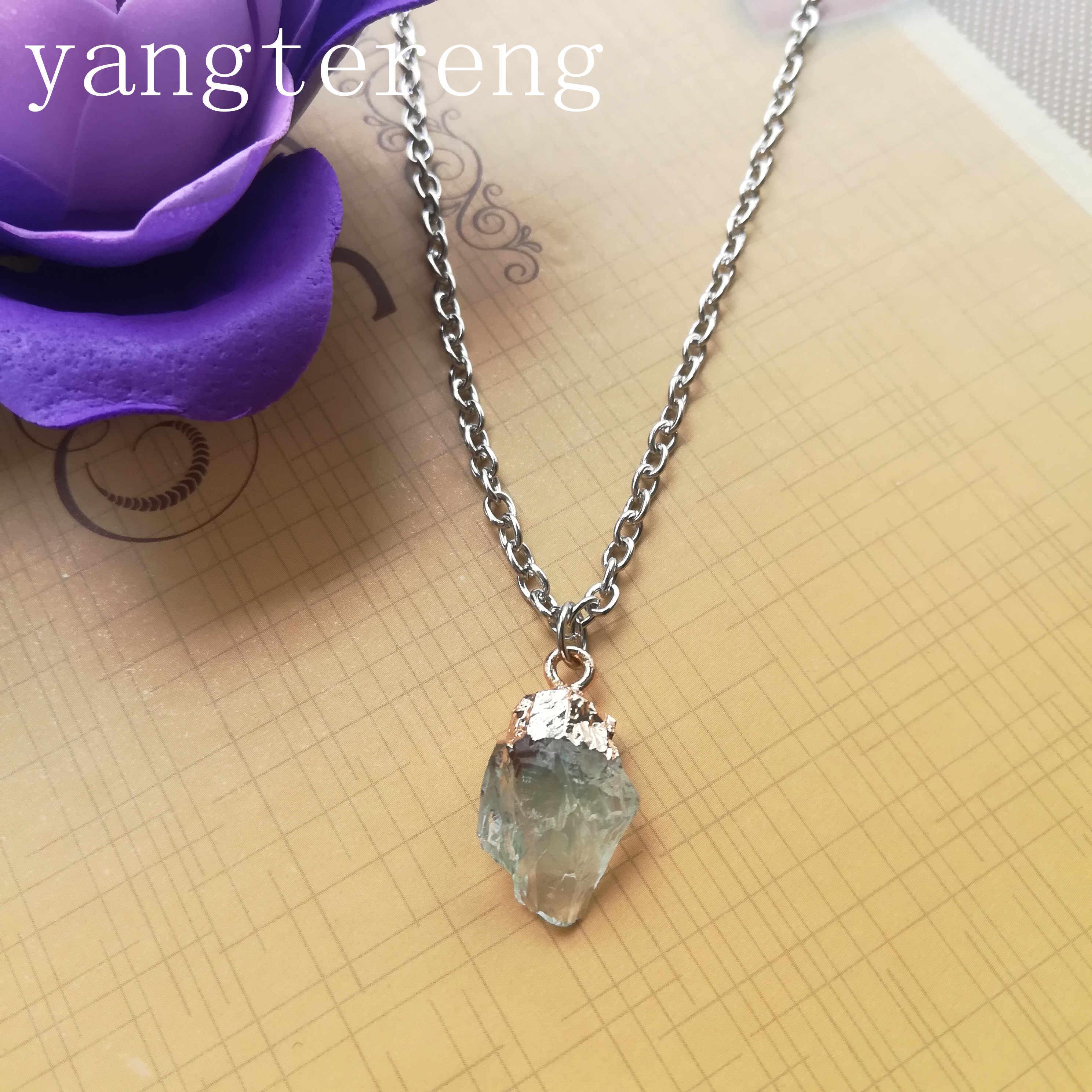 קוריאני גלם חומר שרף בצורת אבן סגסוגת שרשרת תליון