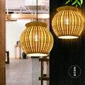 Японская люстра фермерский дом лампа индивидуальность бамбуковая лампа дзэн чайная комната лампа китайский бамбук искусство лампа украше...