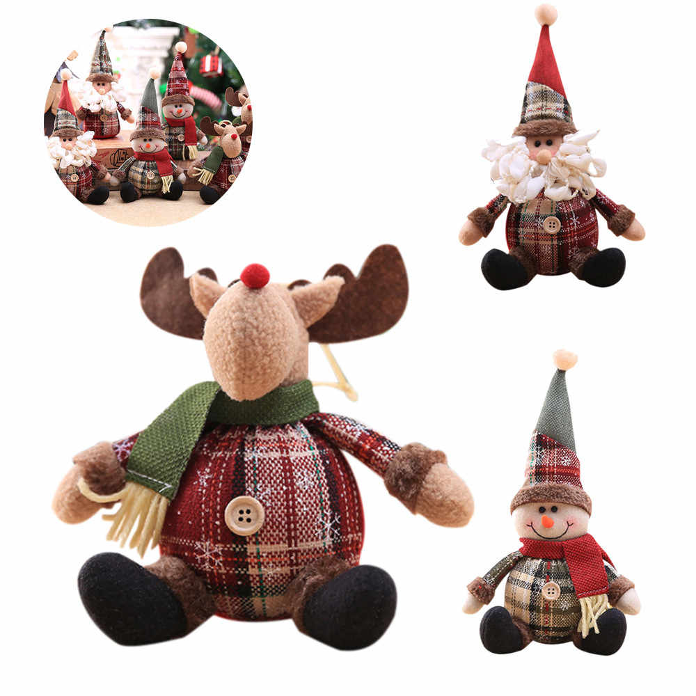Christmas Doll Gift Festival Party Santa Claus Snowman  Ornament cute mini deer lovely amazing decoration cloth cotton D301203