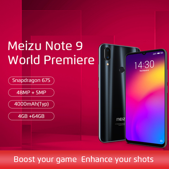 Pre-Sale Global Version Meizu Note 9 4GB 64GB Mobile Phone Snapdragon 675 Octa Core 6.2 inch 48MP + 5MP Rear Camera Fingerprint parallel