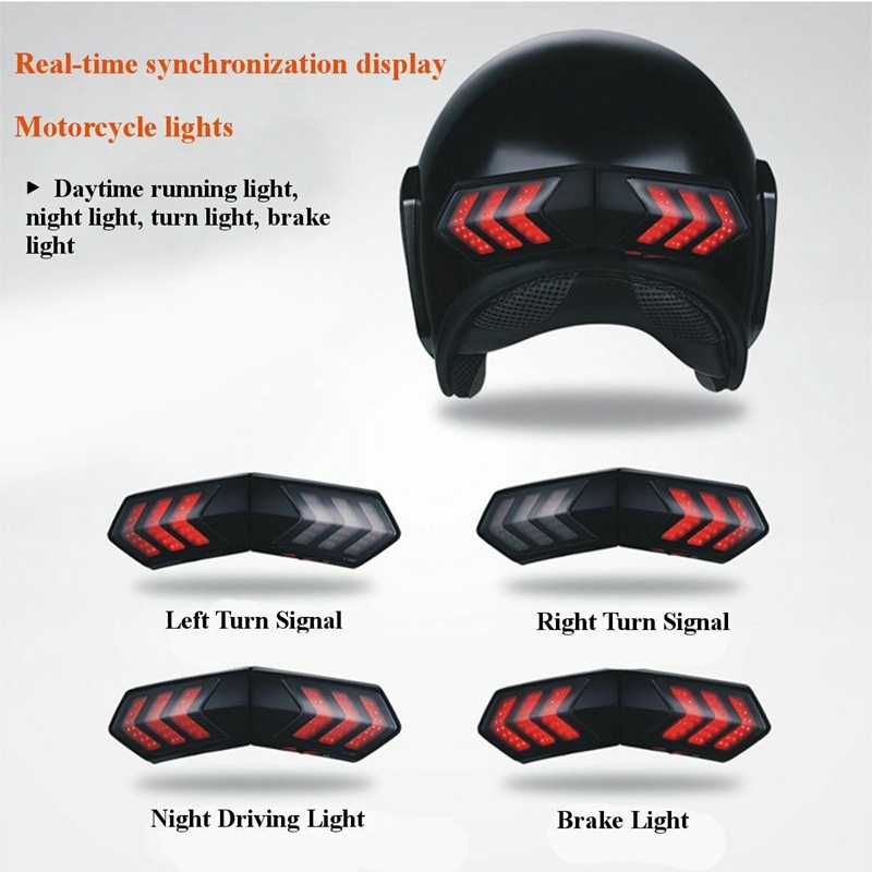 Motorcycle Helmet Led Wireless Brake Stop And Turn Signal Indicator|  - title=