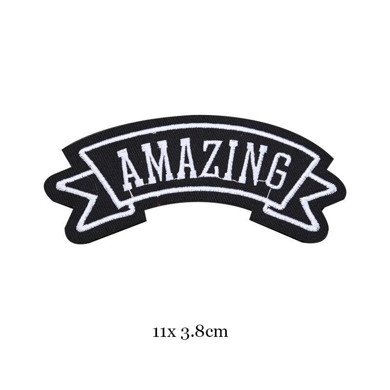 1 шт., черные, белые байкерские нашивки для одежды, железная одежда, аппликация с буквами, Череп, звезда, полосы, вышитая наклейка, круглый значок - Цвет: 42