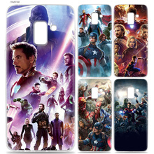 Marvel Avengers Silicone Phone Case For Samsung Galaxy J1  J3 J4 J5 J6 J7 J8 Plus 2018 2016 Grand Prime Pro J2 Core Cover все цены