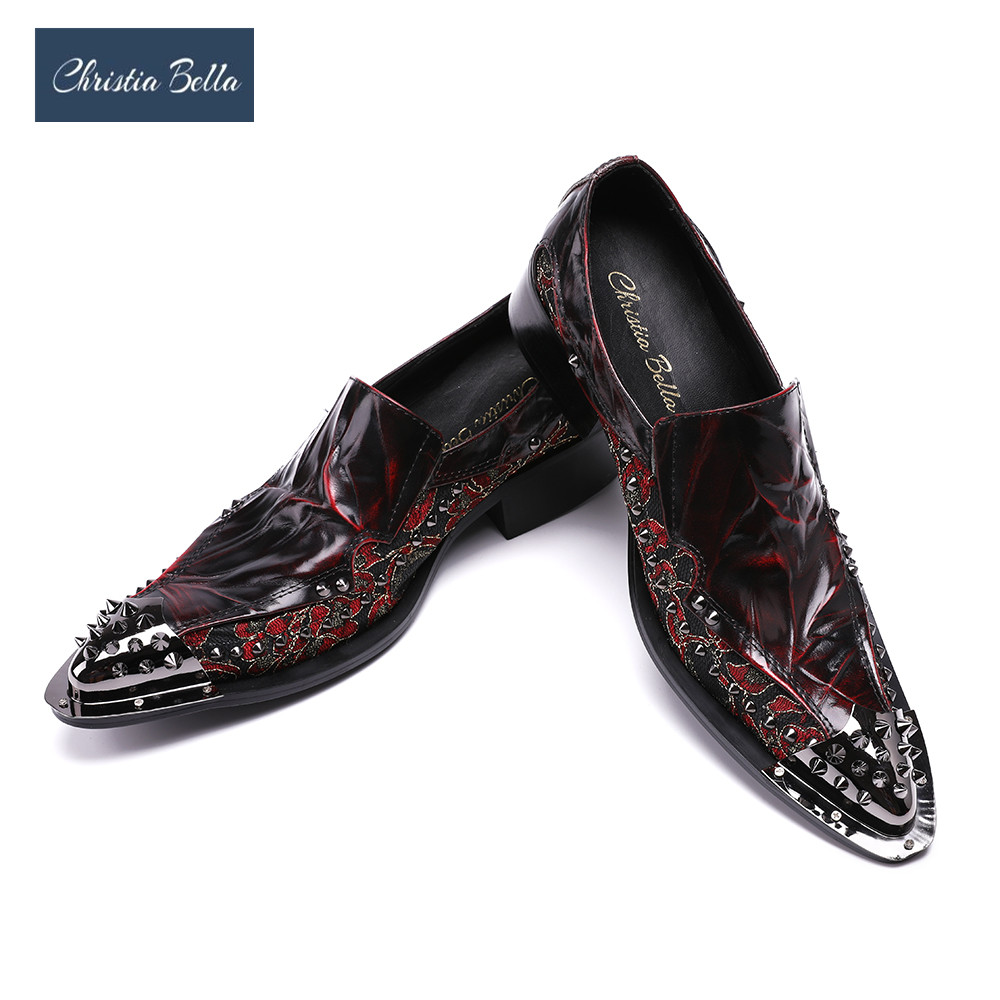 Christia Bella Mens Red Floral Printed Wedding Shoes Genuine Leather Handmade Oxfords Shoes Formal Business Suit Dress ShoesChristia Bella Mens Red Floral Printed Wedding Shoes Genuine Leather Handmade Oxfords Shoes Formal Business Suit Dress Shoes