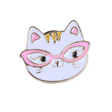 Ellenmar mode dessin animé chat broche Fine alliage goutte huile mignon Animal Corsage vêtements Badge sac accessoire(China)