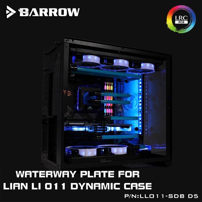 LLO11-SDB-D5 de brouette, cartes de voie navigable pour boîtier dynamique Lian Li PC-O11, Compatible avec pompe 18 w/D5