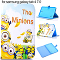 Fashion Cartoon PU Leather Case for Samsung Galaxy Tab 4 7.0 T230 T231 T235 Stand Smart Tablet Cover Kids boys girl