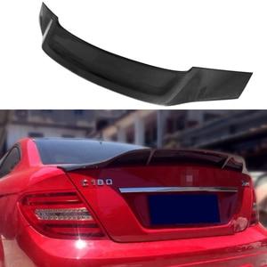 Image 2 - W204 4 portas de fibra de carbono renntech estilo automotivo, asa do porta traseira do carro para mercedes benz w204 2007 2014