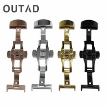 OUTAD Stainless Steel Watch Band Buckle Durable Double Folding Butterfly Deployment Clasp Watches Accessories 18MM/20MM/22MM