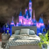 Custom Modern HD 3d Photo Wallpaper Wall 3d Murals Wallpaper Lighting Night Scene Fairytale Castle Background