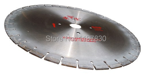 Promotion sale of high quality 600*50*12mm hot pressed segmented silver welded diamond saw blades specially for hard granite blue fox vibrax super bou sbou6 bro