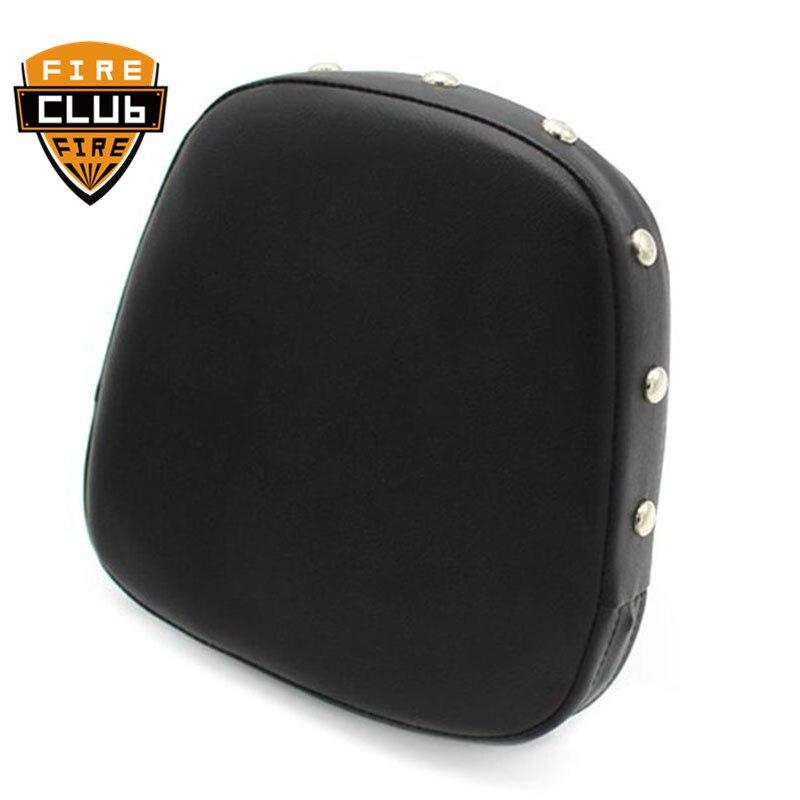 Respaldo Universal de la motocicleta Sissy Bar almohadillas del cojín del respaldo del remache almohadillas de la cubierta del asiento para Honda para Suzuki para Yamaha