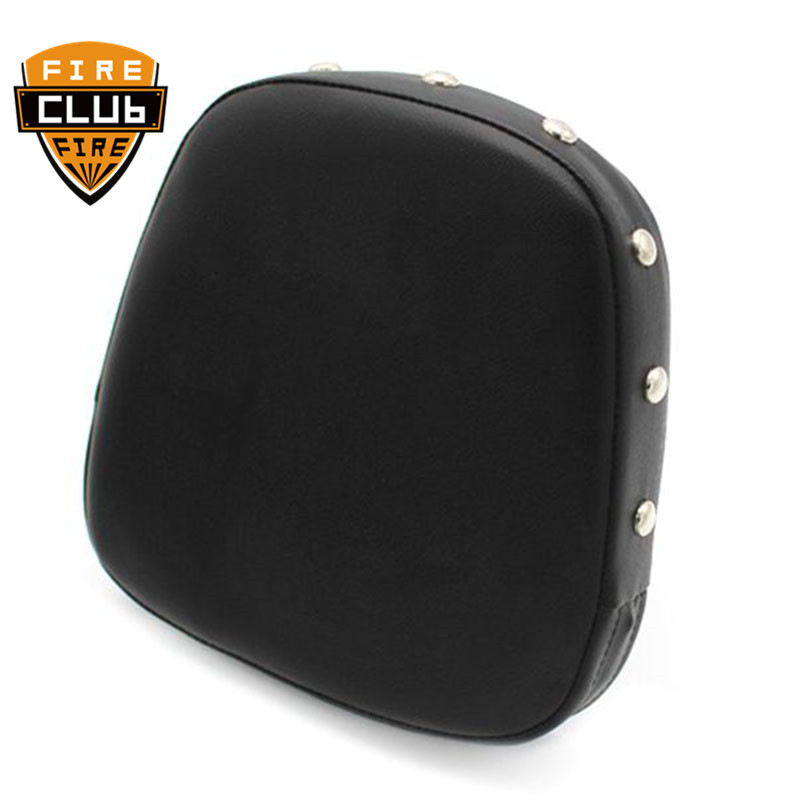 Universal Motorcycle Backrest Sissy Bar Back Rest Cushion Pad Rivet Seat Cover Pads For Honda For Suzuki For Yamaha