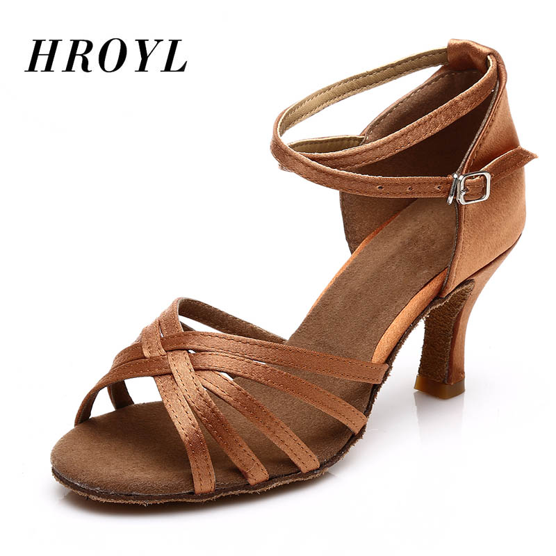 Hot Selling Women's Tango/Ballroom/Latin Dance Dancing Shoes Heeled Salsa Professional Dancing Shoes For Girls Ladies 5cm/7cm image