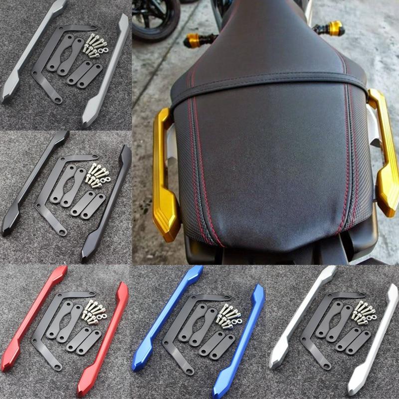 MT-09 FZ-09 CNC Rear Passenger Pillion Seat Grab Handle Bar Hand Rail For Yamaha MT09 MT-09 FZ-09 FZ 09 2014 2015 2016 Brand New 550t001m1r3e0l d sub backshells split bkshll top rear mt str mr li