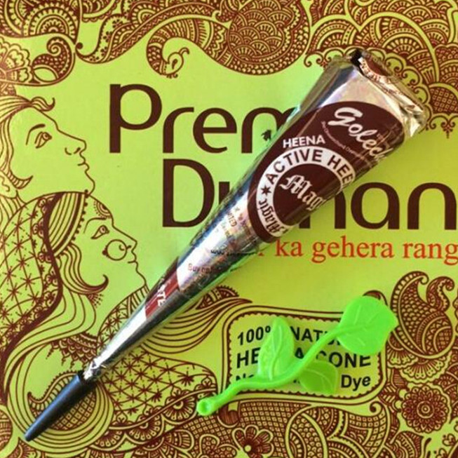 New High Quality Henna Tattoo Cones 100% Natual Golecha Henna Red Temporary Tattoo Kit for Body Art Paint