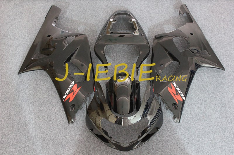Black Injection Fairing Body Work Frame Kit for SUZUKI GSXR 600/750 GSXR600 GSXR750 2001 2002 2003