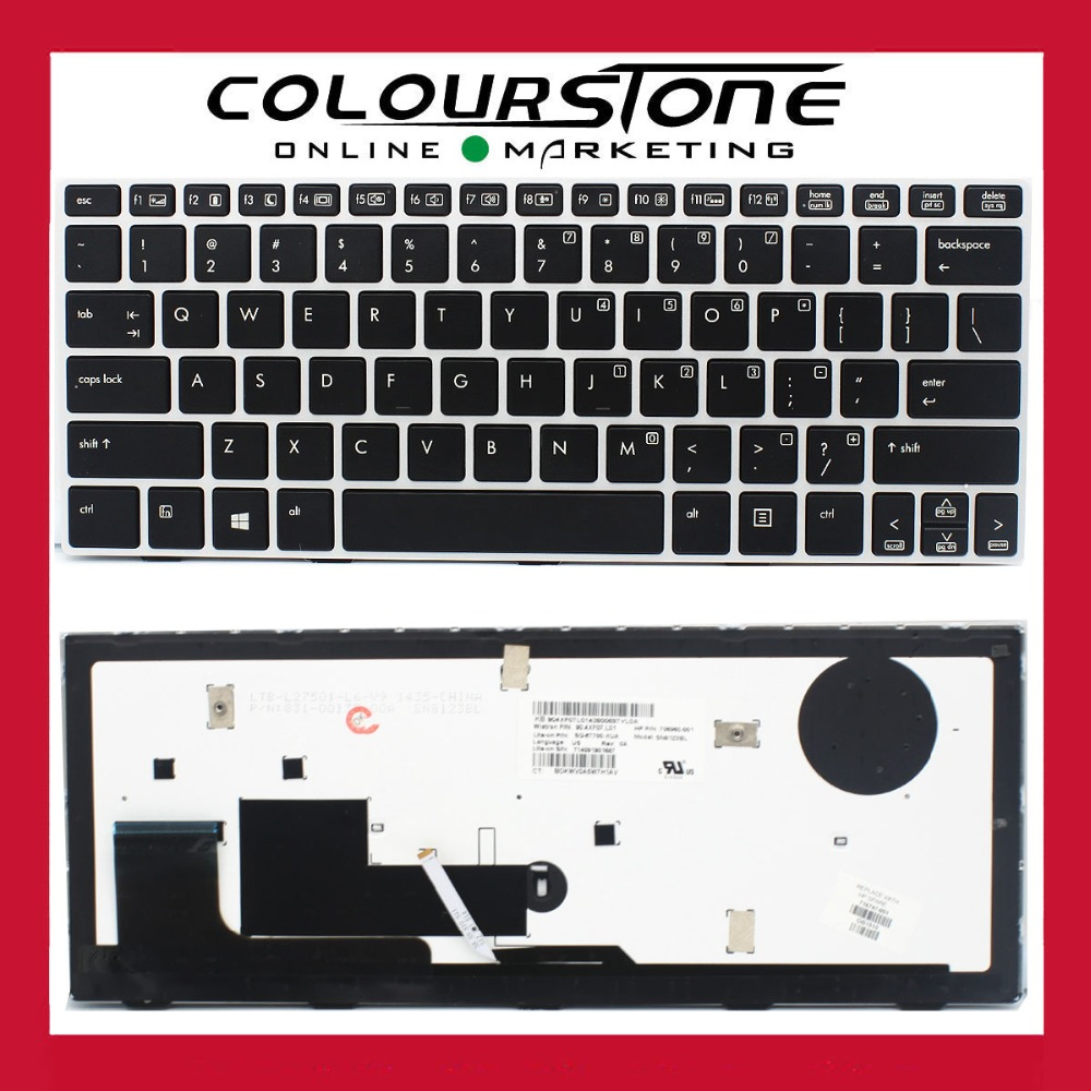 Clavier noir américain pour HP EliteBook 810 G1 G2 G3 série clavier d'ordinateur portable de remplacement 706960-001