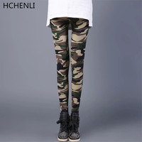 HCHENLI Women Camouflage Military Ankle Length Pants Cargo Pants Tactical Trousers Thin Ladies Army Pencil Legging