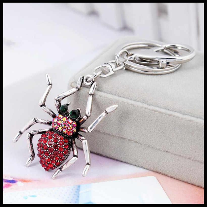 2019 nova moda criativa aranha chaveiro meninas saco ornamentos carro chaveiro requintado presente aniversário presente festa favores