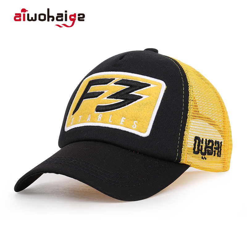 2019 New Fashion Men Women F3   Baseball     Cap   Cotton Embroidered Casual Mesh Hats Summer Sports Outdoor Snapback Streetwear Bone