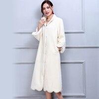 Нерадзурри зима натуральный мех пальто Для женщин длинные элегантные теплые большой Размеры овечьей шерсти пальто 5XL 6XL 7XL белый натуральна