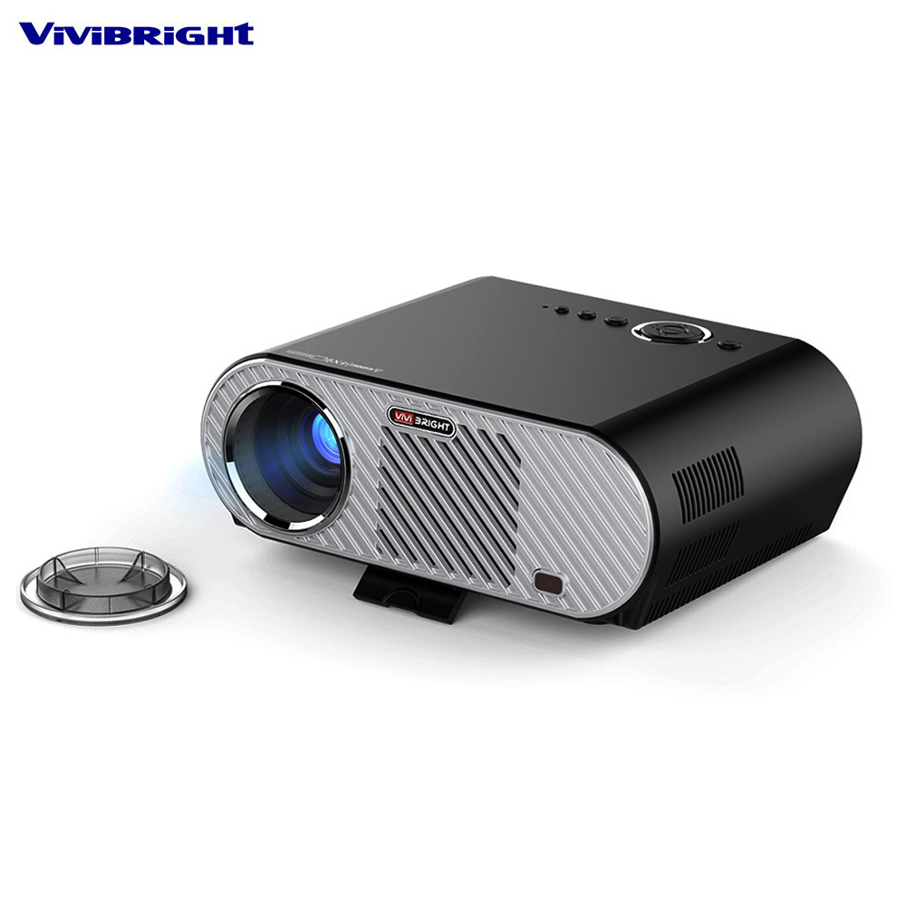 ViviBright GP90 GP90UP Smart Android Wifi Cinema LED Projector USB Full HD Video WXGA LED HDMI VGA 1080P Home Theater Proyector byintek moon gp90 1280x800 cinema usb full hd video wxga led hdmi vga 1080p home theater projector beamer projetor proyector