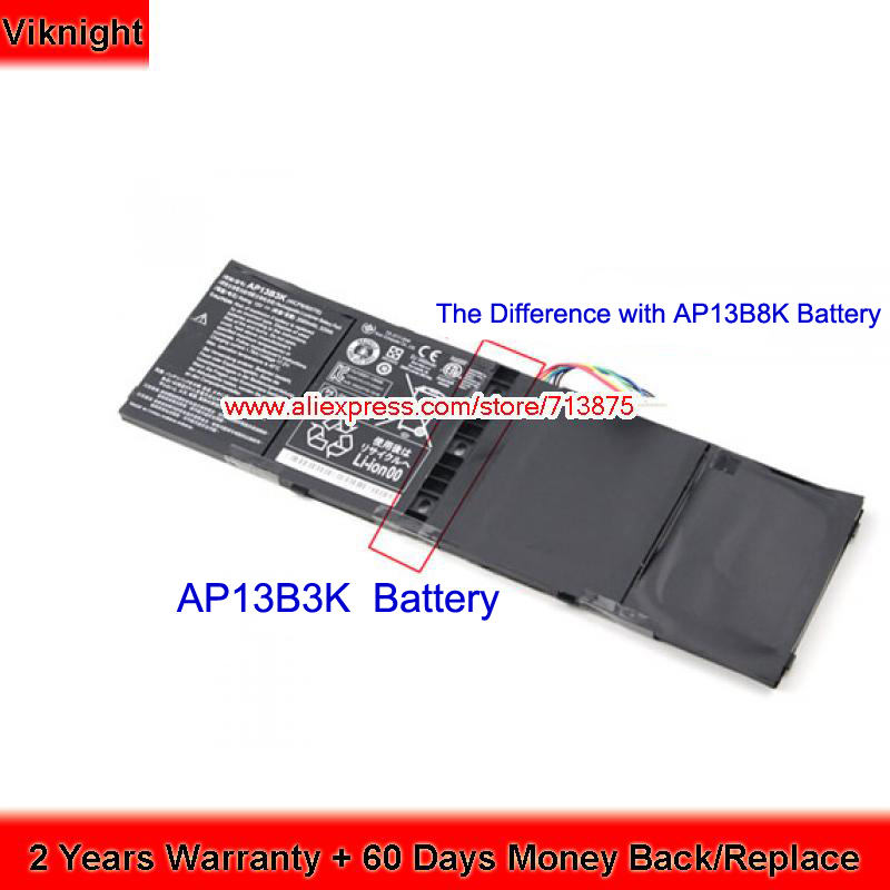 Genuine AP13B3K Battery for ACER V5-572G V5-552G ES1-512 R7 V5-572 V5-573G V5-472G V5-473G V5-572P ES1-511 15V 53Wh ap13b3k ap13b8k 4icp6 60 78 laptop batteries for acer aspire v5 473g v5 573g es1 512 c8xk v7 582pg v5 572g v5 552p 15 0v 6 cell