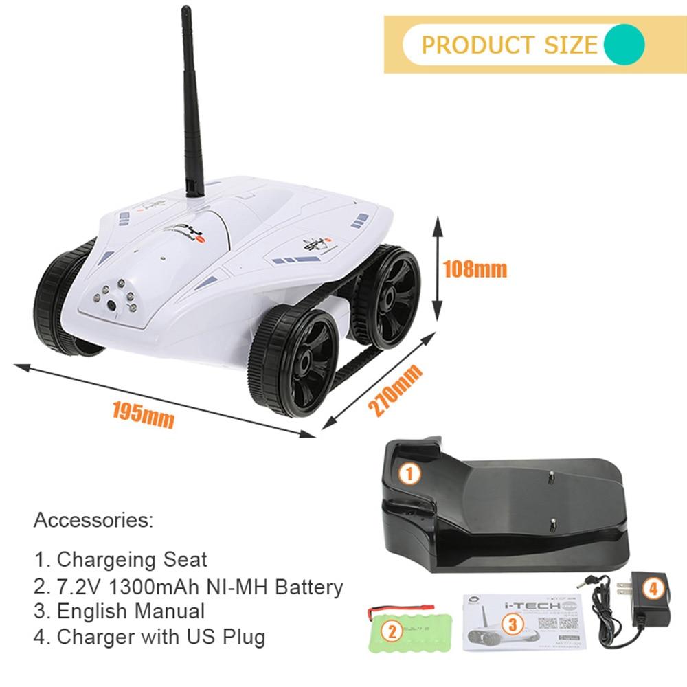 Real time mini rc tank app controlled wireless spy tank i spy.