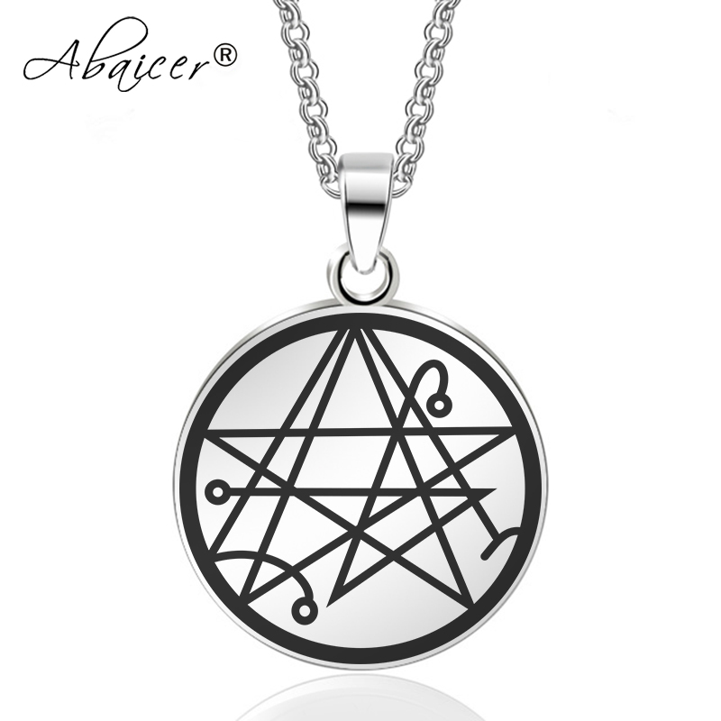 Abaicer - Sigil of the Gateway Key Of Solomon Pendant Stainless Steel  Necklace Seals Of The Seven Archangels