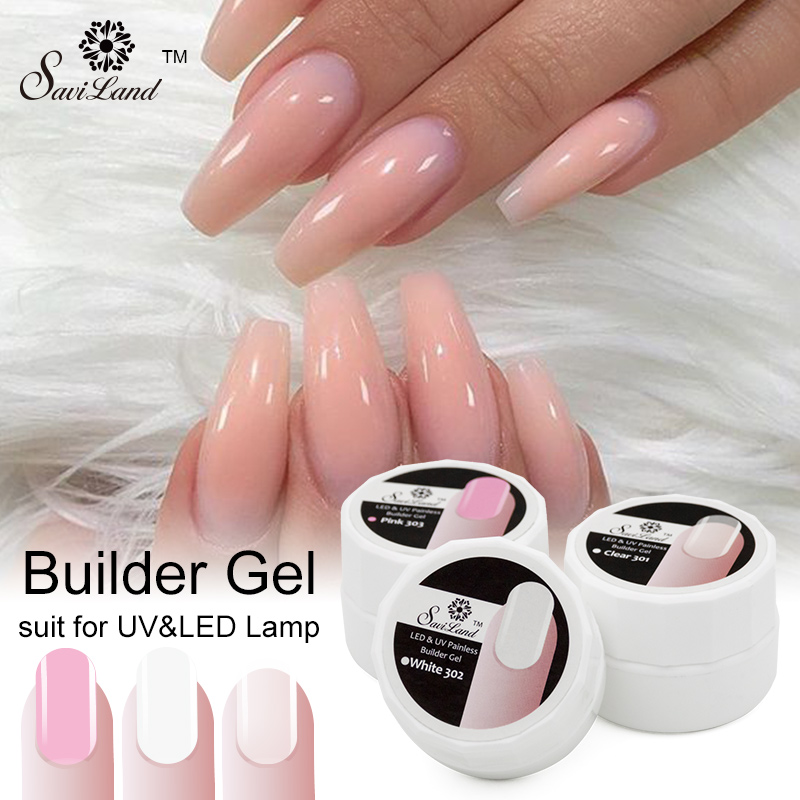 ▻Saviland 1pcs Extension French Tips Pink White Clear Transparent ...