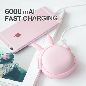 Image 2 - Cute Handwarmer Mini Hand Warmers for Girls Termofor Gumowy Portable Pocket Power Bank 6000mAh Battery Rechargeable WT W6