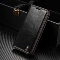 CASEME Phone Cases For Galaxy S8 Bag Oil Wax PU Leather Magnetic Wallet Stand Cover For