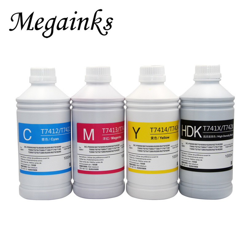 1000ML HDK CMY Heat transfer ink For Epson Surecolor F7000 F6200 F7200 F6270 F7270 F7100 F9200 F9370 printer sublimation ink-in Ink Refill Kits from Computer & Office    1