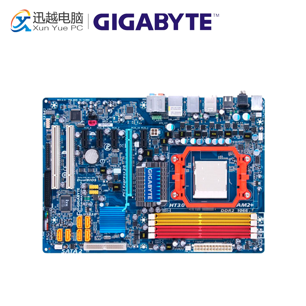 Gigabyte GA-MA770-S3P Desktop Motherboard MA770-S3P 770 Socket AM2+ DDR2 SATA2 USB2.0 ATX for gigabyte ga ma78g ds3hp original used desktop motherboard for amd 780g socket am2 for ddr2 sata2 usb2 0 atx