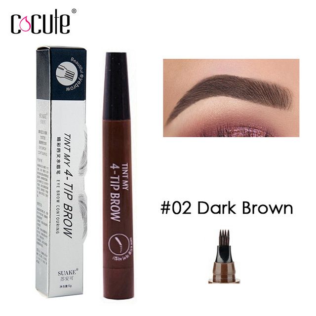 Microblading Eyebrow Pencil Tint 4 Tip Liquid Brow Tattoo Pen 5 Colors Paint Makeup Eyebrows Waterproof Cosmetic Eye brow Liner 4