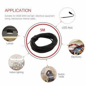 Image 4 - UnvarySam Siyah Ceketli LED Uzatma kablo tel Kordon 2Pin 22AWG 3A Anma Akımı PVC yalıtımlı tel için su geçirmez konnektör