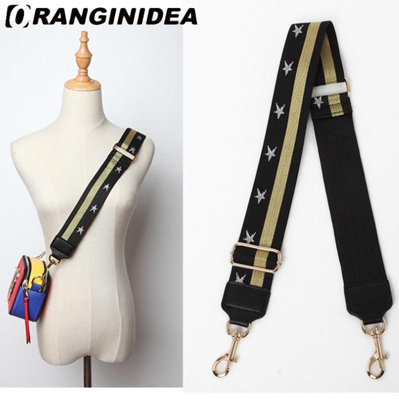 Strap U Shoulder Strap For Bags Canvas Weave Wide Strap Bag Fashion Handbag Crossbody Bag Straps Replacement Belt Accessories