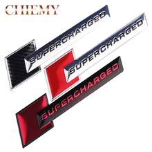 Aluminum 3D Metal SUPERCHARGED Car Sticker Emblem Badge For Audi A3 A4 A5 A6 Q3 Q5 Q7 S4 S6 Jeep BMW Ford Volvo Nissan Mazda Kia dsycar 1 pair 3d metal turbo car sticker emblem badge for jeep bmw ford volvo nissan mazda audi vw honda toyota lada chevrolet