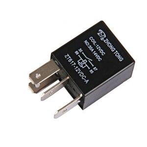 Image 2 - 1 Pcs DC 12V 30A 4 핀 SPST 전자 릴레이 자동차 보트 릴레이 자동차 제어/알람/경적/헤드 라이트 등 2.0x1.5x3.5cm