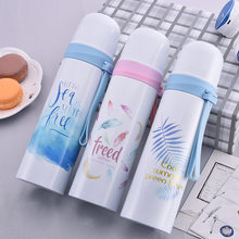 Thermos Vacuum Flasks Flamingos Cute Bottle for Water Women Straight Cup Drinkware H1108(China)