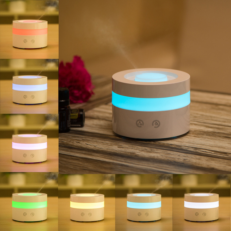 Touch Button Aromatherapy Humidifier Moistener Atomization Essential Oil Aroma Diffuser Mist Maker Led Night Light new 300ml woodgrain essential oil aroma diffuser aromatherapy humidifier mist maker purifier 3 models