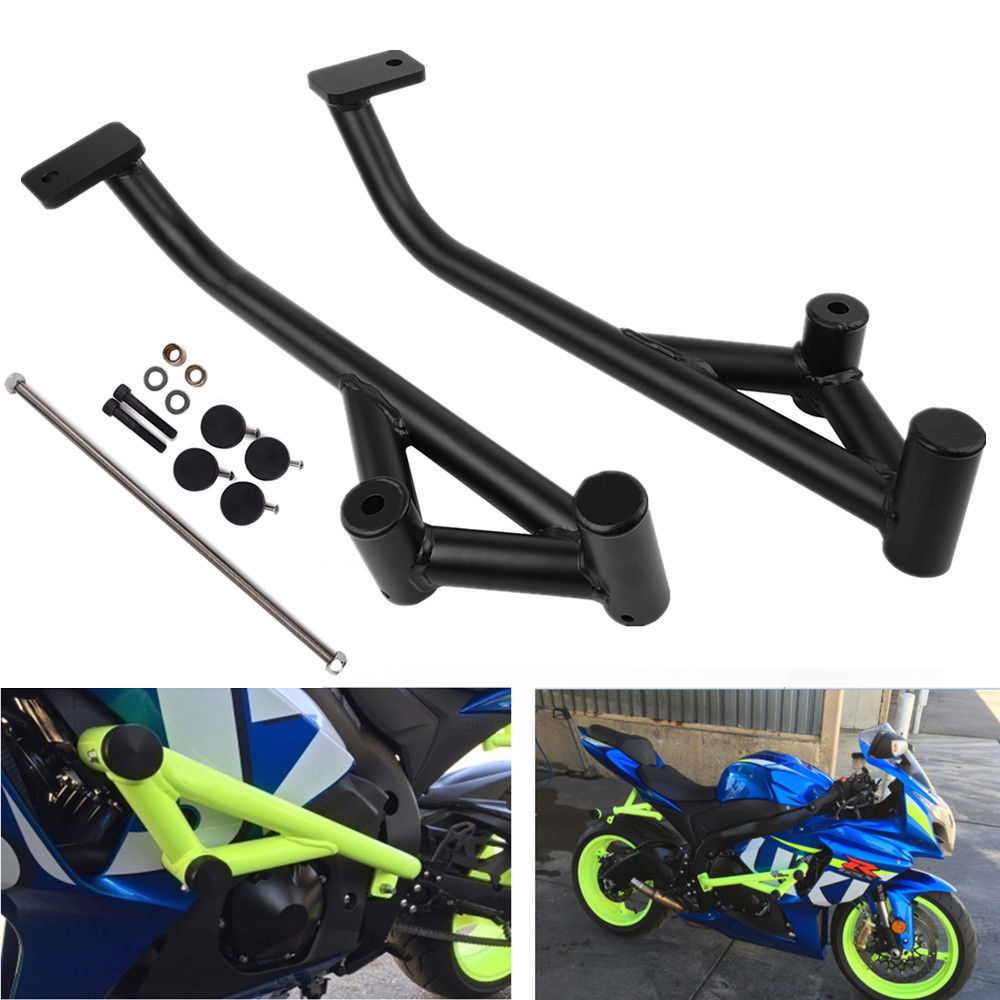 LJBKOALL Matte Black Engine Guard Crash Bars Frame Protector For Suzuki GSXR1000 K9 2009 2010 2011 2012 2013 2014 2015 2016