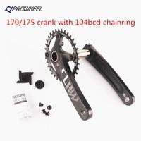 Prowheel Bike bicycle mtb 10 11 speed Crankset 170/175MM With deckas chainring 32/34/36/38T round oval
