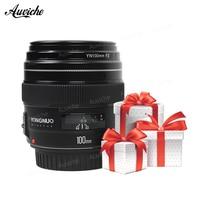 NEW Yongnuo YN100mm F2 Medium Telephoto Prime Lens for Canon EOS Rebel Camera AF MF 5D 5D IV 1300D T6 760D 750D 5DS Camera