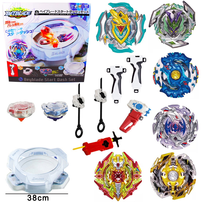 8pcs/set Metal Beyblade Bayblade Burst Launcher Toys Arena Sale Gyroscope Emitter Hobbies Classic For Children Bey blade