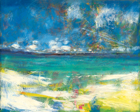 abstract landscape picture scenery prints seascape giant poster modern home picture wall artA lovely beach from Arcachon